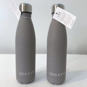 Pair of Soia & Kyo Stainless Water Bottles NEW